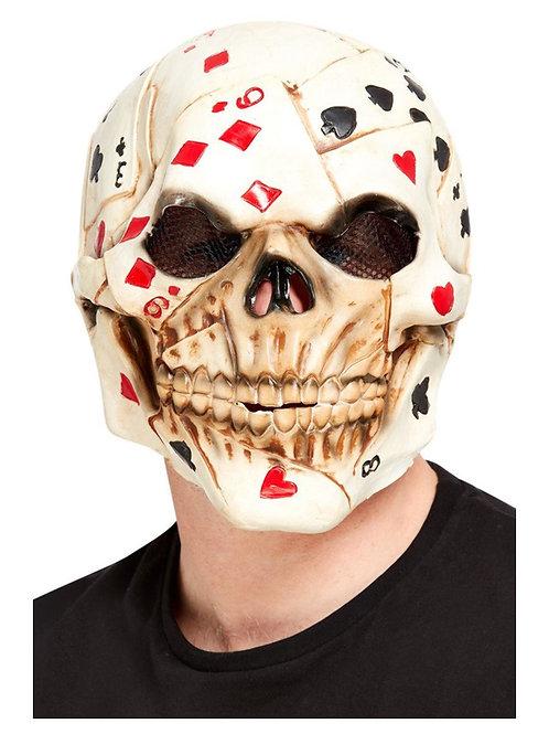 Poker Face Skull Overhead Mask. 68008 Smiffys