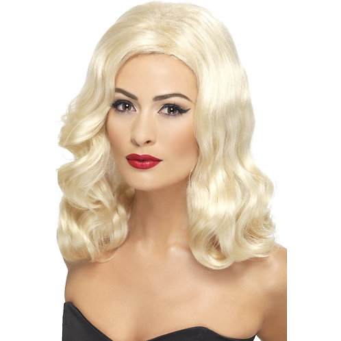 20'S Luscious Long Wig,Blonde