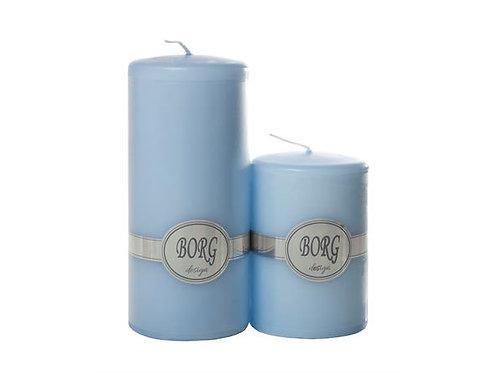 Kubbelys 7X10Cm 18 Lys Blå