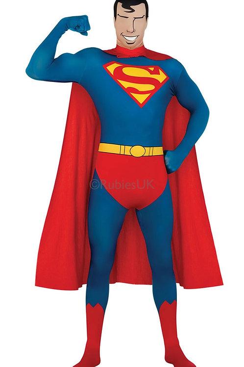 SUPERMAN 2ND SKIN SUIT – MENS. 880520 RUBIES