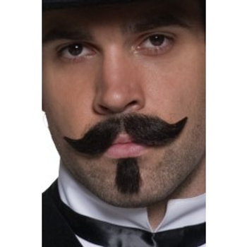 Authentic Western Gambler Moustache, Brown SKU: 31129