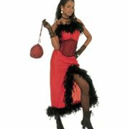 """""""SALOON MADAME"""" (dress with feather trim, ... W 32621"""