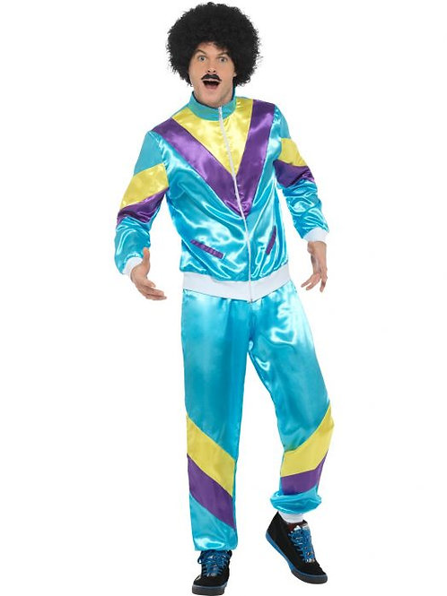 80s Height of Fashion Shell Suit Costume, Blue SKU 39298