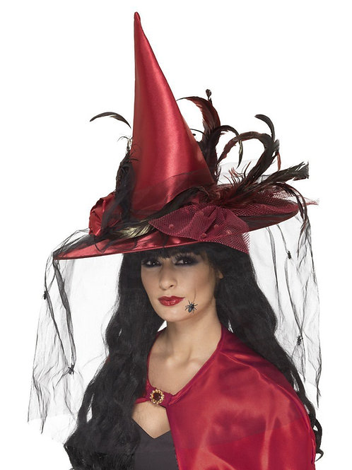 Witch Hat, Deep Red. 36720 Smiffys