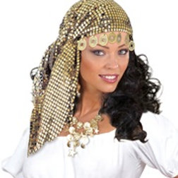 """SEQUIN GIPSY HEADDRESS WITH COINS"" 8477N W"