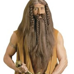 """BARBARIAN WIG WITH BEARD & MOUSTACHE"""" in ... (B6334)"""