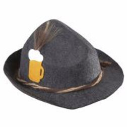 """BAVARIAN HAT WITH BEER MUG & FEATHERS"" de... W 1409M"
