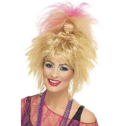 80'S Trademark Crimped High Ponytail,Blonde
