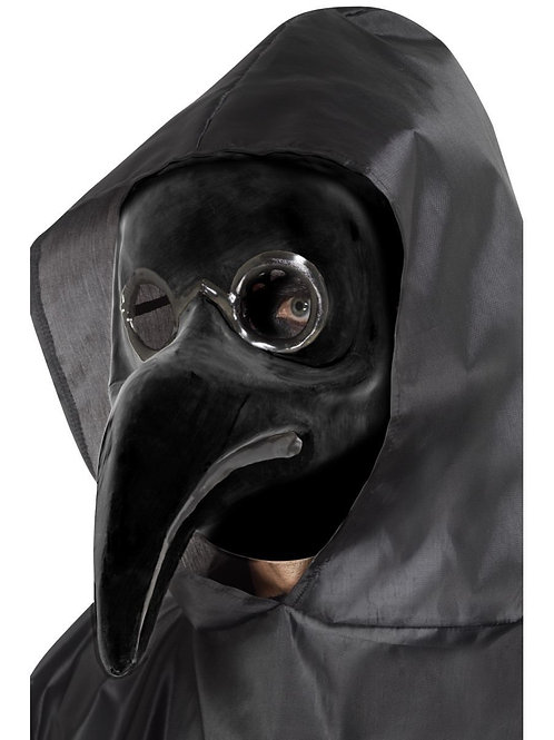 Authentic Plague Doctor Mask, Black. 48317 Smiffys