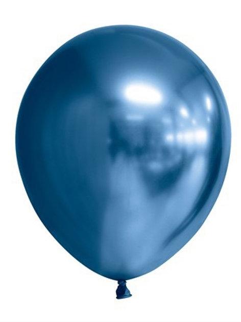 """BALLOONS 12"""" MIRROR BLUE 6-P (6) 64429 JOKER"""