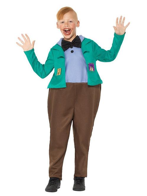 Child Augustus Gloop Roald Dahl Costume. 41544 Smiffys