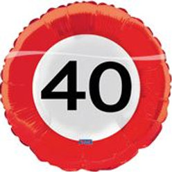 17In/43cm Traffic Sign 40 F 28540
