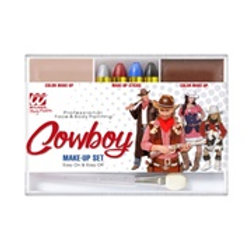 """COWBOY MAKEUP SET"" (4 makeup sticks, skin...) 02408 W"