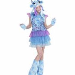 """BLUE MONSTER GIRL"""" (dress, headpiece, glo... 01702 W"""