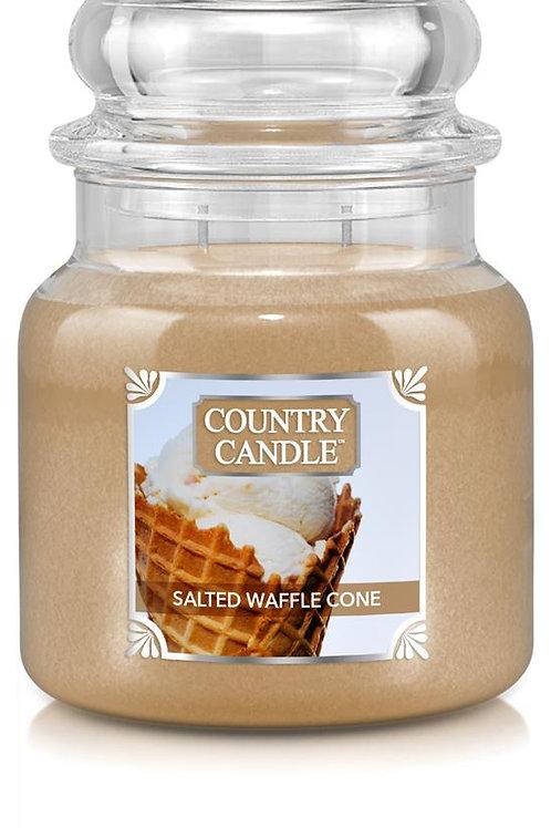 2 Wick Medium Jar Salted Waffle Cone