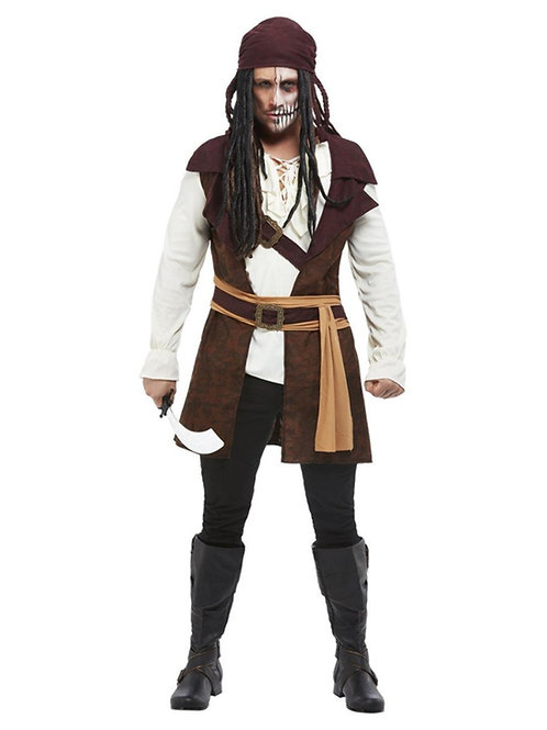 Dark Spirit Pirate Costume, Brown. 63046 Smiffys
