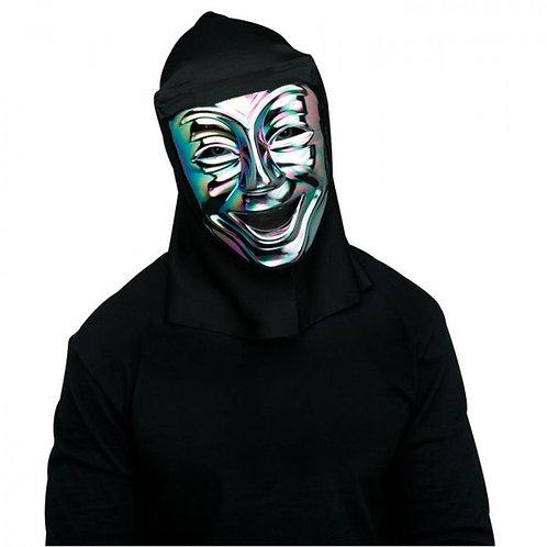 Funworld® Oil Slick Comedy Mask w/ Shroud. FW-93370LC Wicked