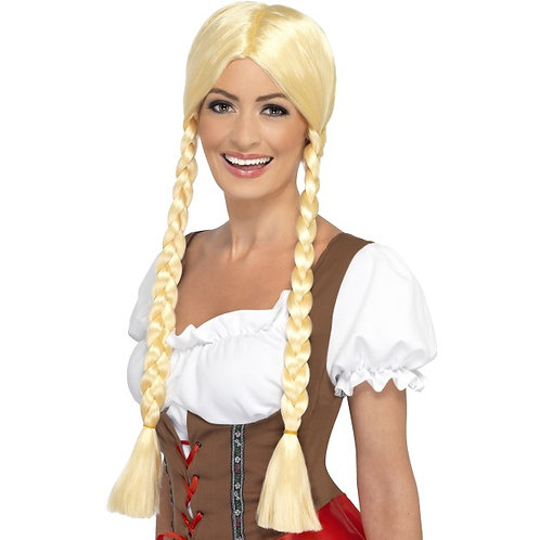 Bavarian Beauty Wig, Blonde, Plaited