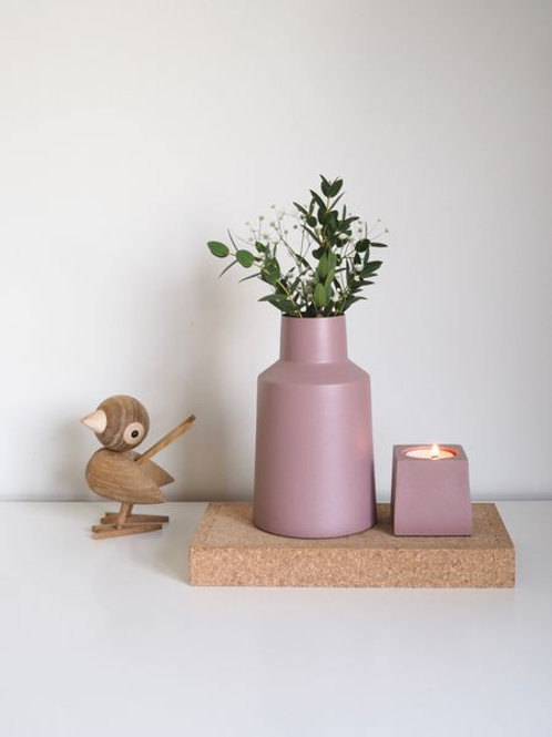 LOTUS VASE, DUSTY ROSE 16CM