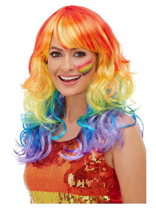 Rainbow Glam Wig, Multi-Coloured. 52026 S