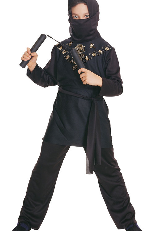 BLACK NINJA COSTUME – CHILDRENS. 881037 RUBIES
