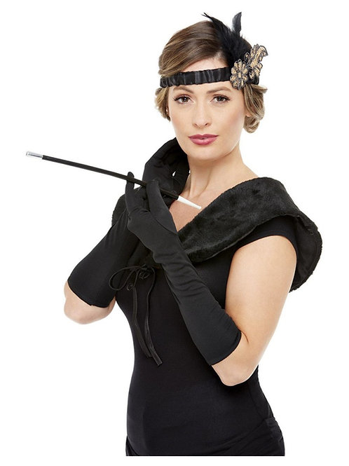 Deluxe 1920s Accessories Kit, Black & Gold. 72009 Smiffys