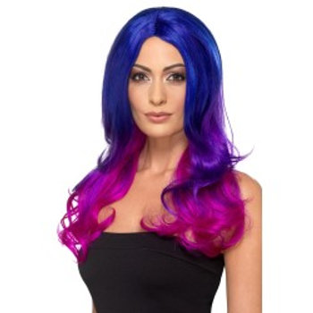 Fashion Ombre Wig, Wavy, Long, Blue & Pink. 48906 S