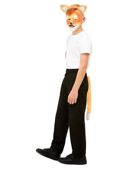 Smiffys Make-Up FX, Kids Fox Kit, Aqua, Orange. 47724 Smiffys
