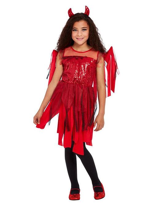 Girls Punk Devil Costume. 63082 Smiffys
