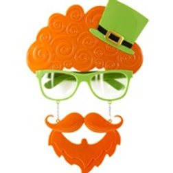 """""""ST. PATRICK'S DAY GLASSES WITH MOUSTACHE .. 14405 W"""