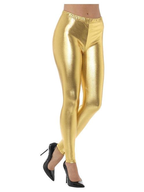 «80s Metallic Disco Leggings, Gold». 48104 S