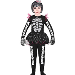 """SKELETON"" (shirt with tutu, pants, headpi... W 02055"
