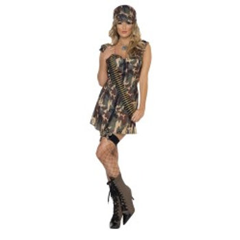 Fever Army Girl Costume 33829 S