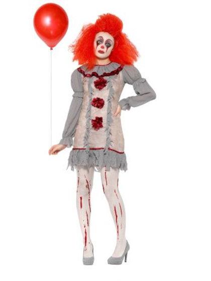 Vintage Clown Lady Costume 47564 S