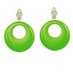 """Pair of """"NEON GREEN EARRINGS"""" W 05840"""