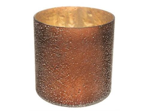 Lysglass bronse/gull sandfinish h:12cm Varenr:109837