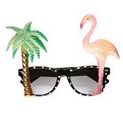 Flamingo Tropical Glasses. 0322F W