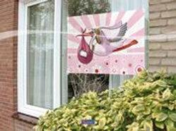 Window Flag Girl 60x90cm F 09276
