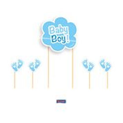 Cake Topper Baby Boy F 63638