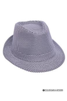 Hatt svart/hvit