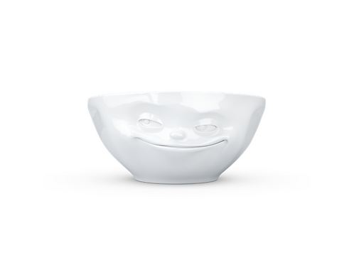 "Tassen skål 350ml ""Fliring - grinning"" Hvit, 350ml"