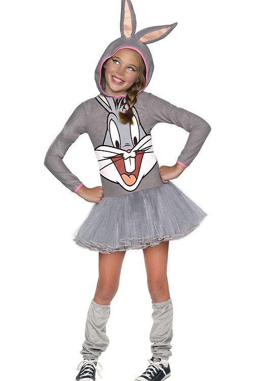 BUGS BUNNY GIRLS HOODED COSTUME – CHILDRENS. 610670 RUBIES