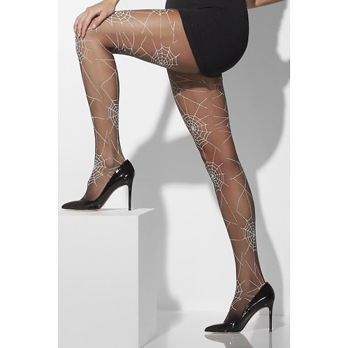 Tights, Black, With Spiderweb Design SKU: 42743