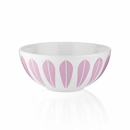 Lotus skål 24cm, hvit med rosa