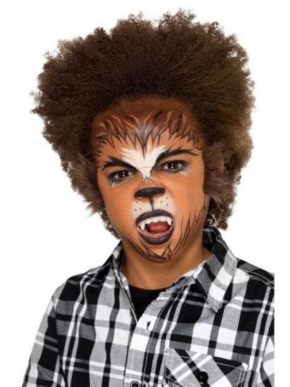 Kids Halloween Werewolf Make Up Kit, Aqua S 49102