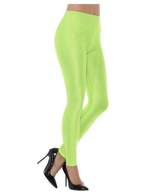 80s Disco Spandex Leggings, Neon Green. 48111 S