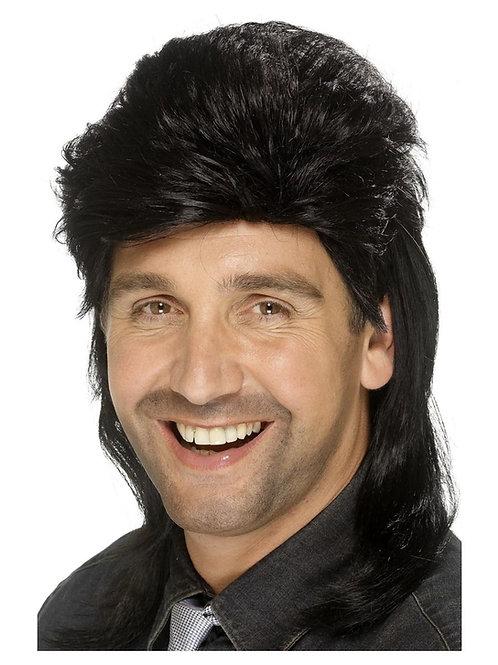 Mullet Wig, Black. 42193 S