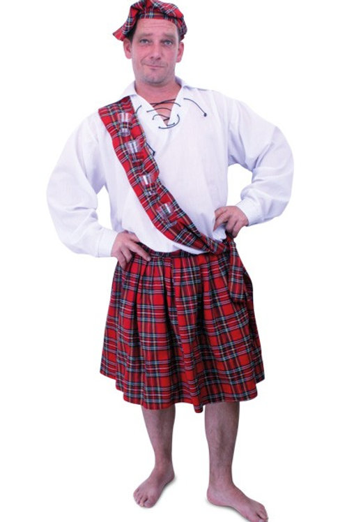 Scottish Costume Deluxe Kilt and Sash with blouse