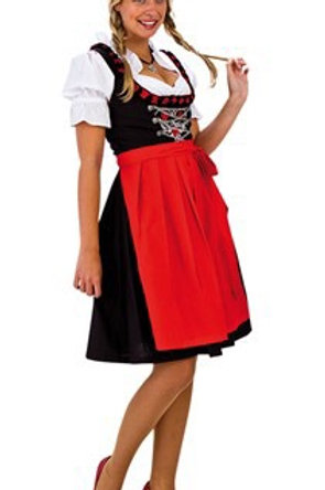 OKTOBERFEST DIRNDL BLACK/RED TRADITIONAL 36. 95840-36 JOKER