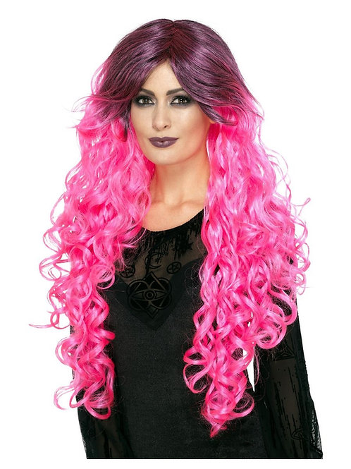 Gothic Glamour Wig, Neon Pink. 45029 S
